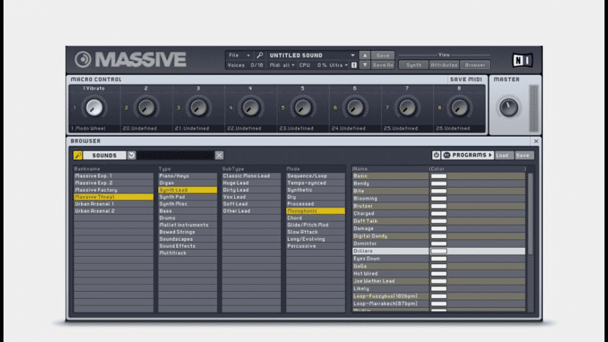 Massive for Mac - review, screenshots