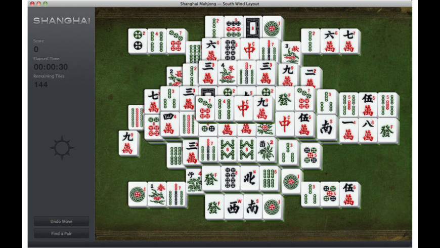 Shanghai Mahjong for Mac - review, screenshots