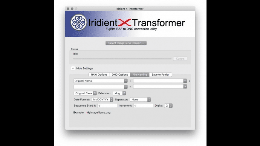 Iridient X-Transformer for Mac - review, screenshots