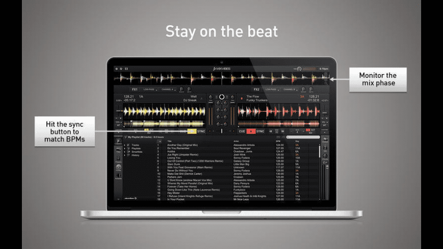 Cross DJ Free for Mac - review, screenshots