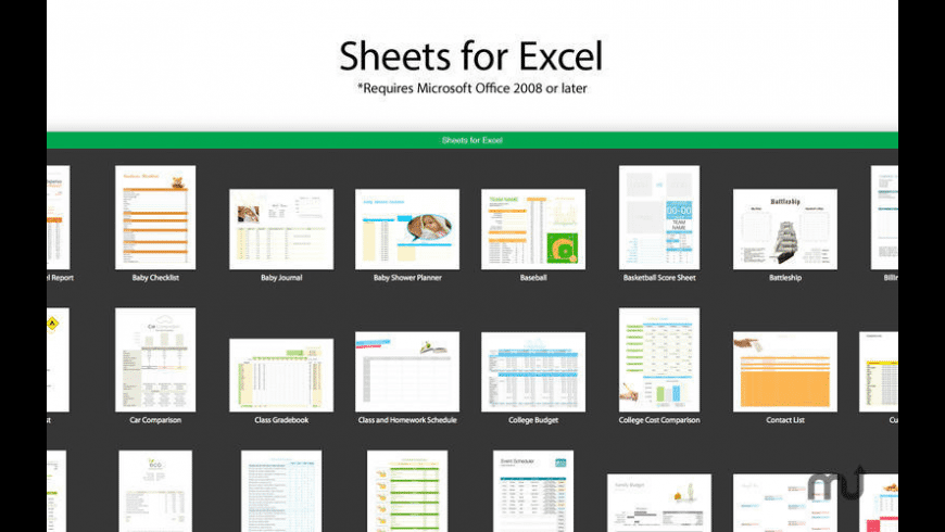 Sheets for Excel for Mac - review, screenshots