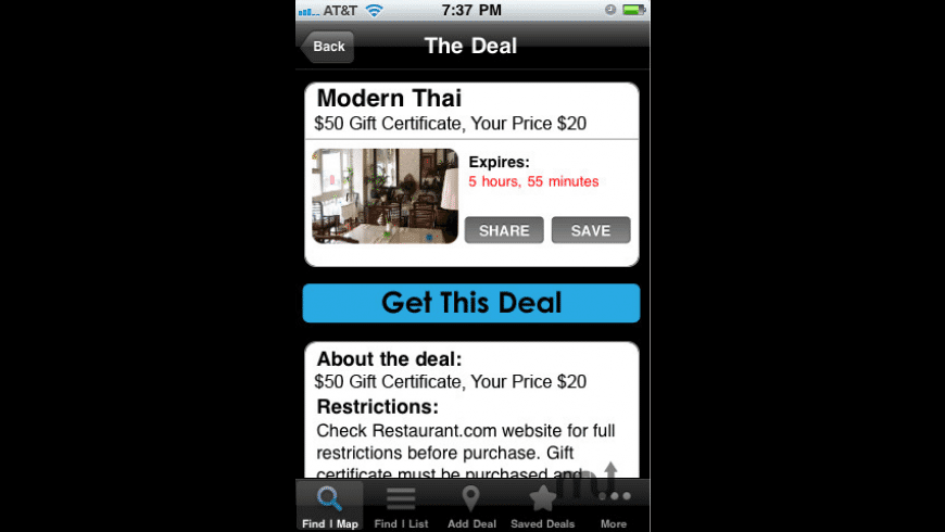 The Dealmap for Mac - review, screenshots