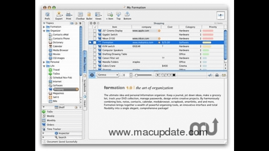 Formation for Mac - review, screenshots