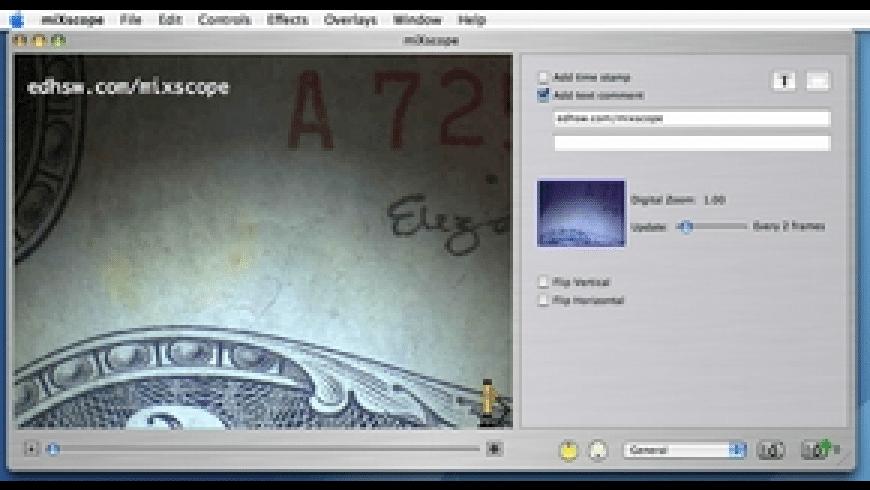 miXscope for Mac - review, screenshots