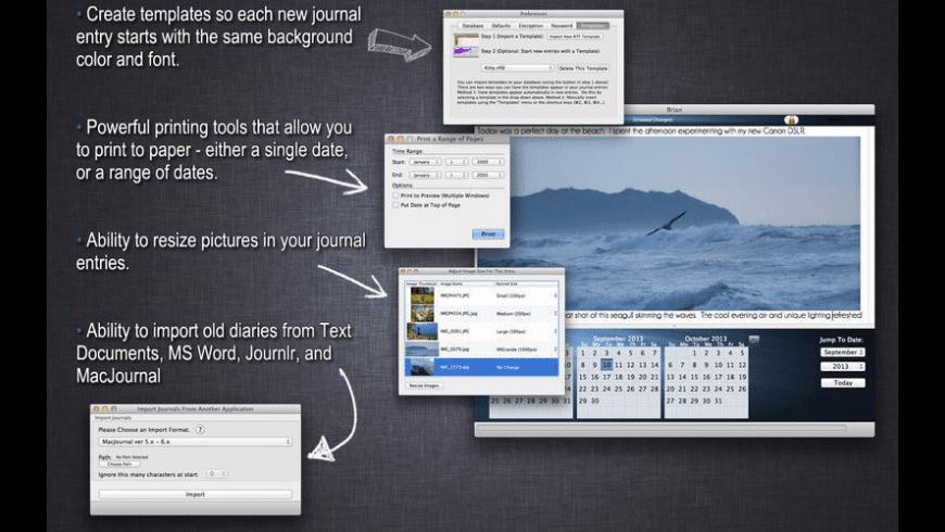 MiJournal for Mac - review, screenshots
