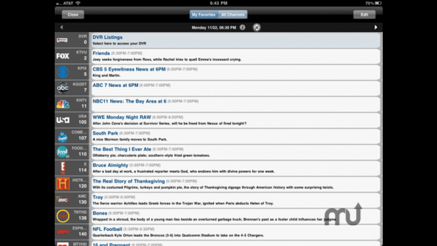 SlingPlayer Mobile for iPad for Mac - review, screenshots