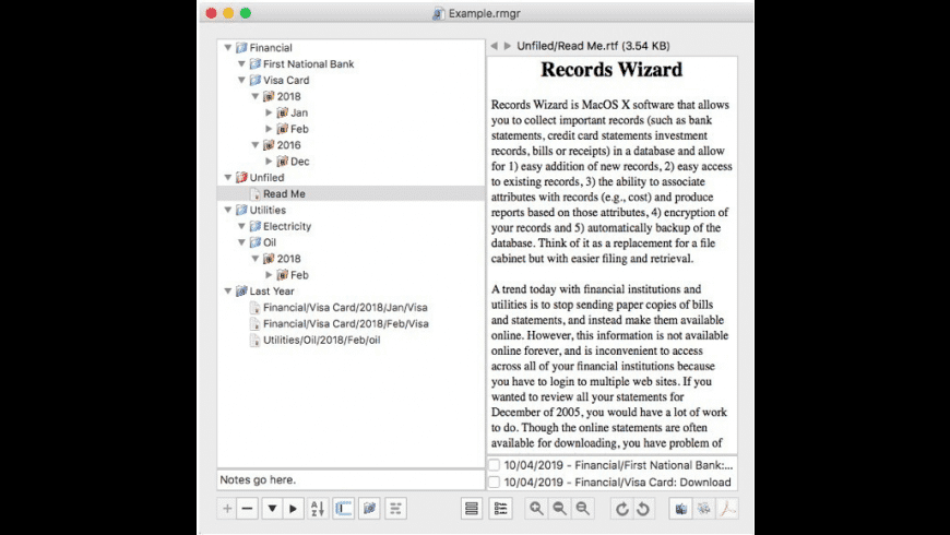 Records Wizard for Mac - review, screenshots