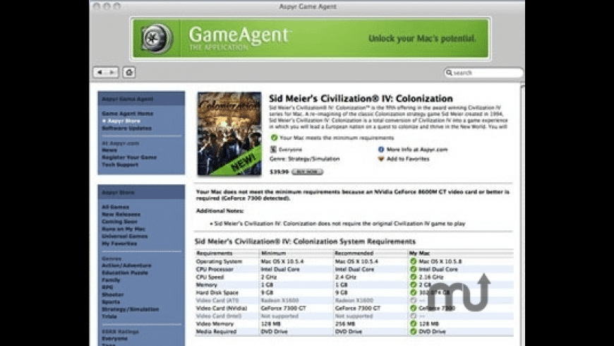 Aspyr Game Agent for Mac - review, screenshots
