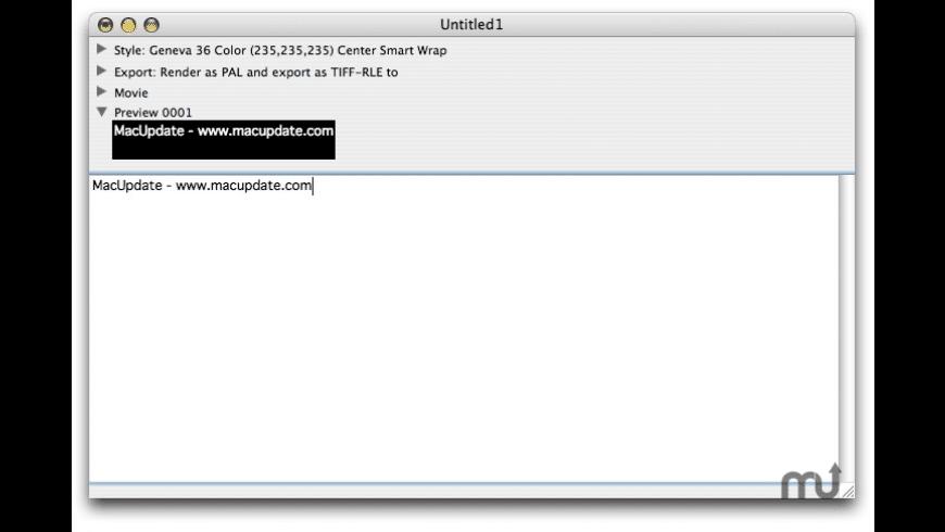 Subtitler for Mac - review, screenshots