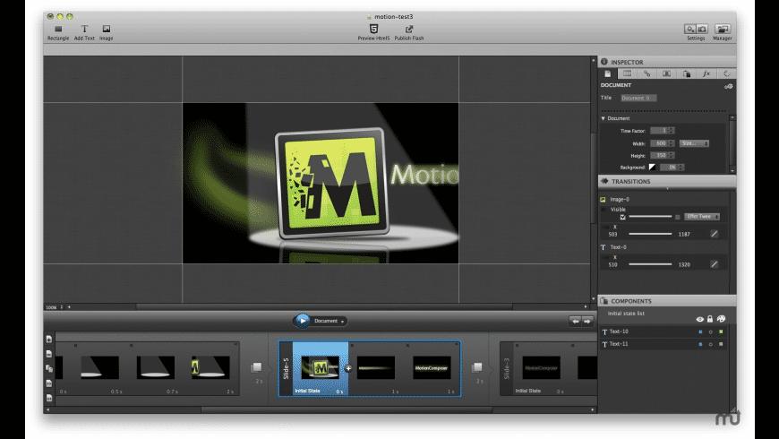 MotionComposer for Mac - review, screenshots