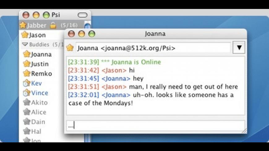 Psi for Mac - review, screenshots