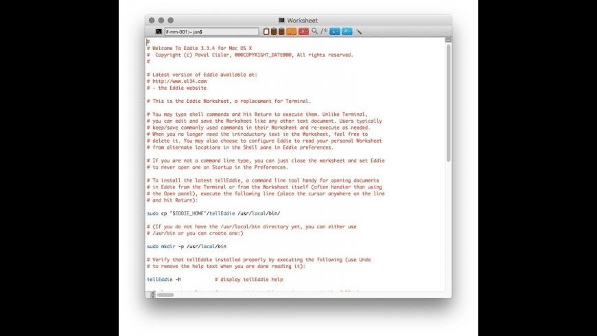 Eddie for Mac - review, screenshots