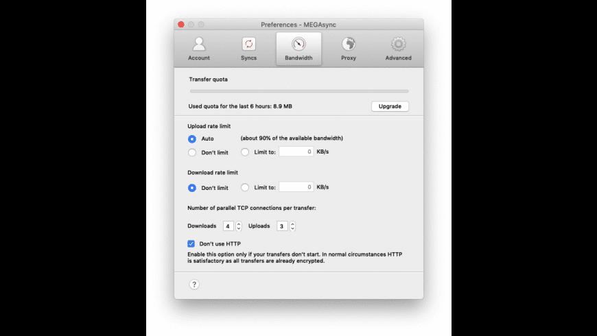 MEGAsync for Mac - review, screenshots