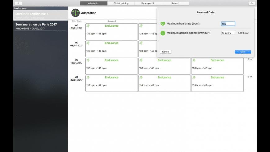 MyRunning for Mac - review, screenshots