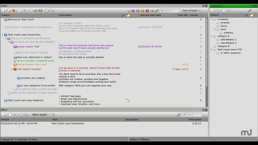Task Coach for Mac - review, screenshots
