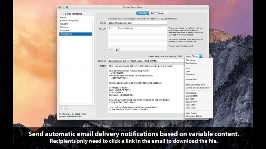 Deliver for Mac - review, screenshots