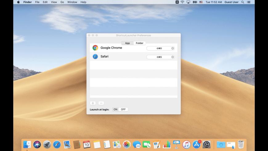 ShortcutLauncher for Mac - review, screenshots