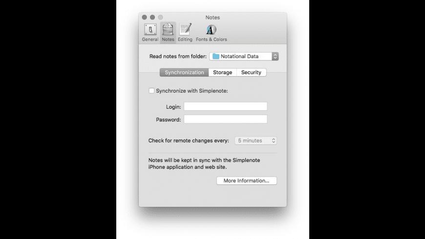 Notational Velocity for Mac - review, screenshots