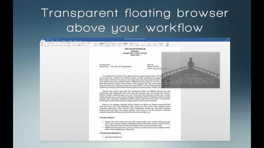 Fluid Browser for Mac - review, screenshots