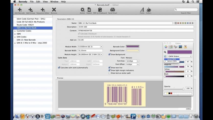Barcody for Mac - review, screenshots