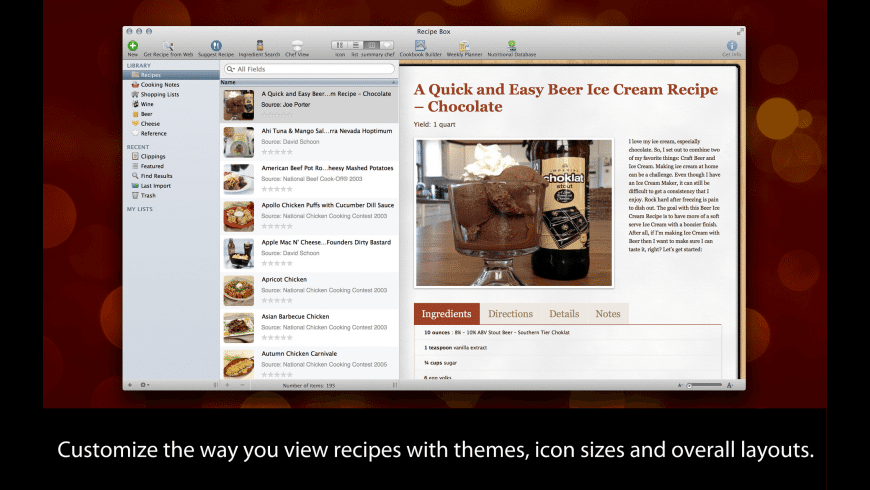 MacGourmet Deluxe for Mac - review, screenshots