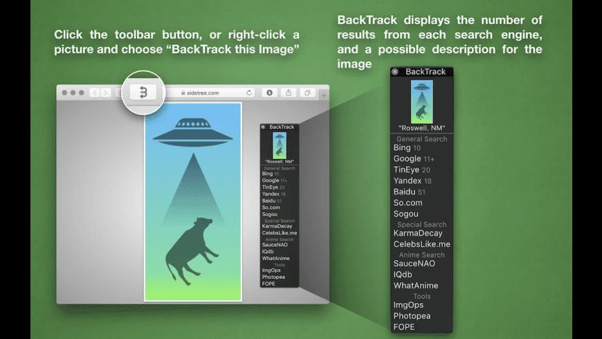 BackTrack for Safari for Mac - review, screenshots