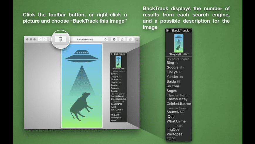 BackTrack for Safari for Mac - review, screenshots