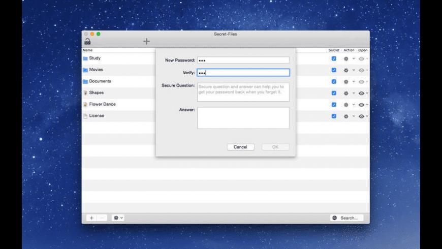 Secret Files X for Mac - review, screenshots