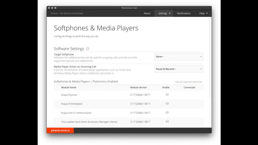Plantronics Hub for Mac - review, screenshots