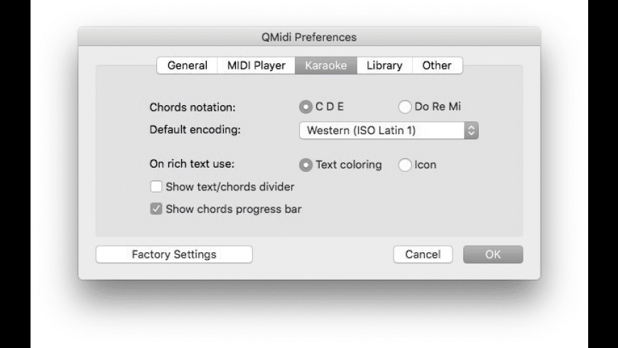 QMidi Standard for Mac - review, screenshots