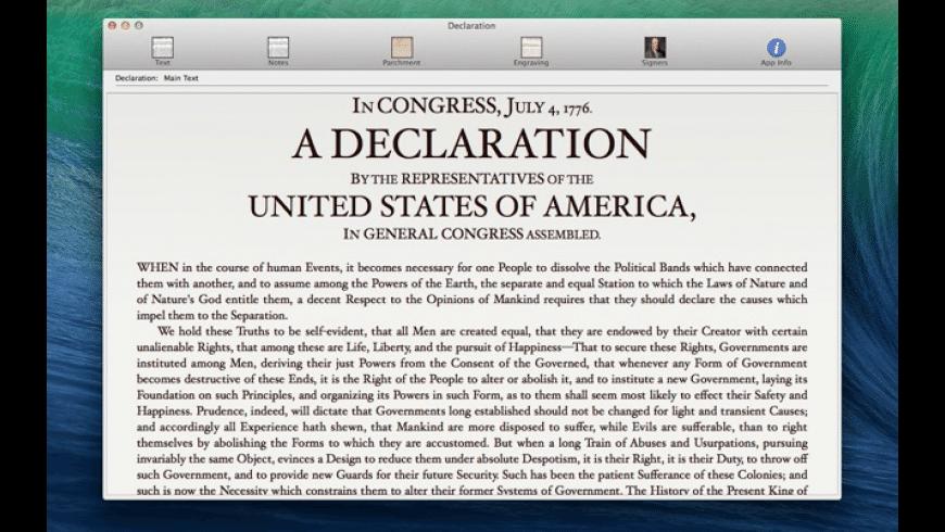 Declaration for Mac - review, screenshots