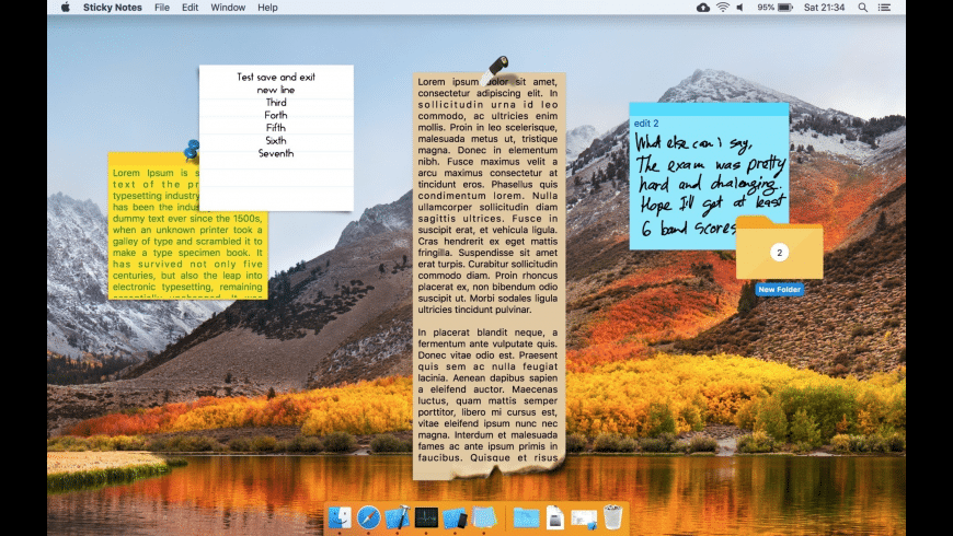 Sticky Notes for Mac - review, screenshots