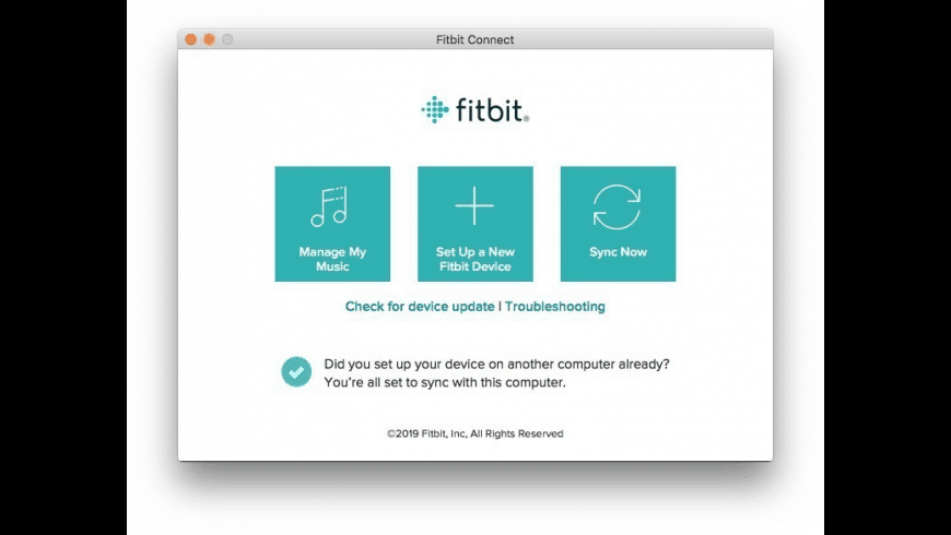 Fitbit Connect for Mac - review, screenshots