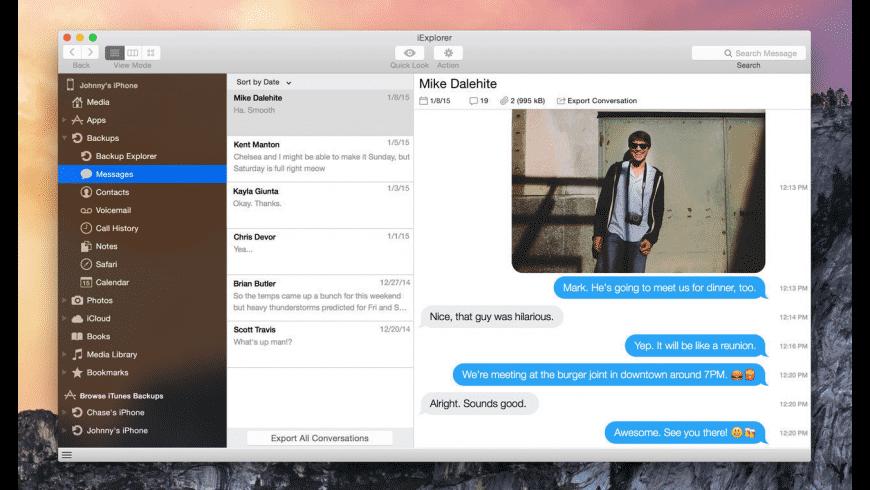 iExplorer for Mac - review, screenshots