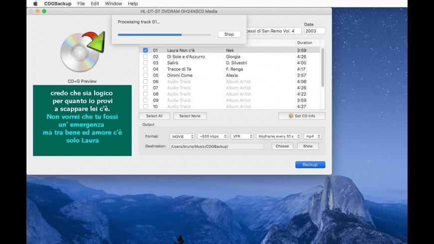 CDGBackup for Mac - review, screenshots