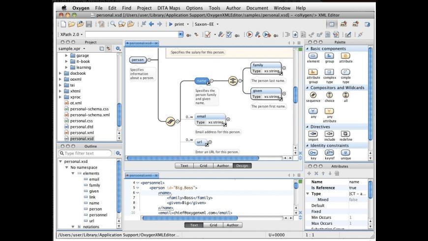 Oxygen XML Author for Mac - review, screenshots