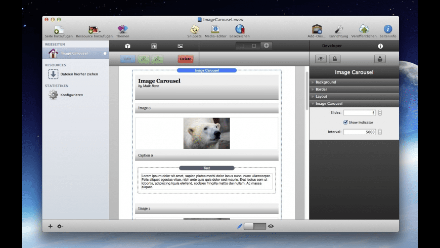 Image Carousel for Mac - review, screenshots