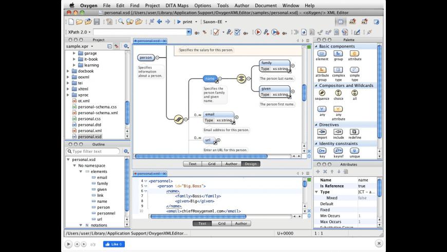 Oxygen XML Developer for Mac - review, screenshots