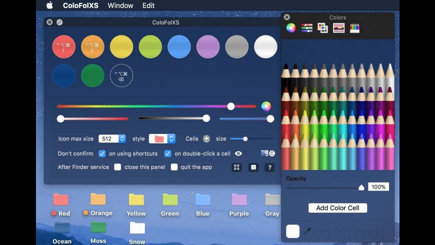 ColoFolXS for Mac - review, screenshots