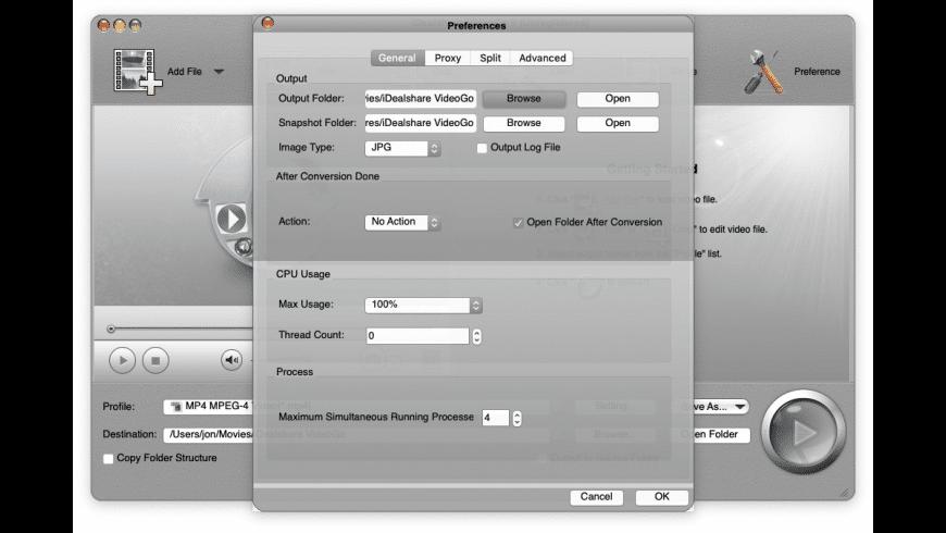 iDealshare VideoGo for Mac - review, screenshots