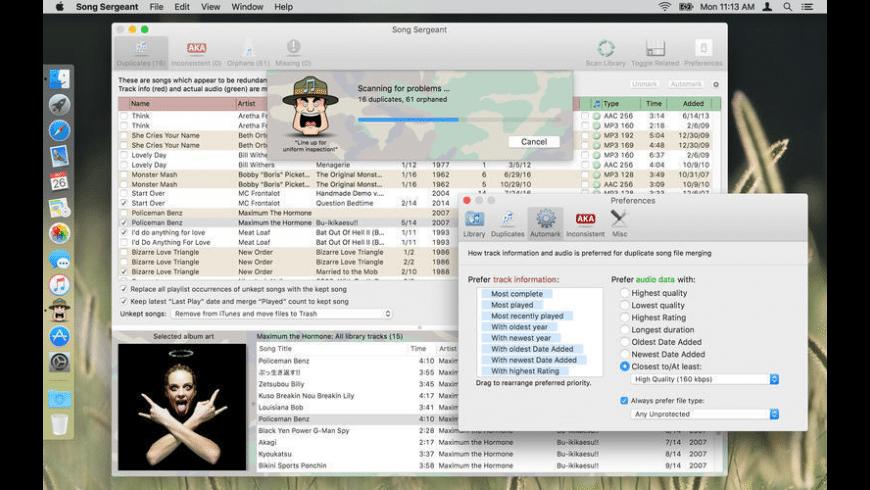 Song Sergeant for Mac - review, screenshots