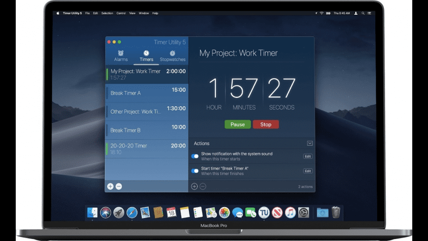 Timer Utility for Mac - review, screenshots