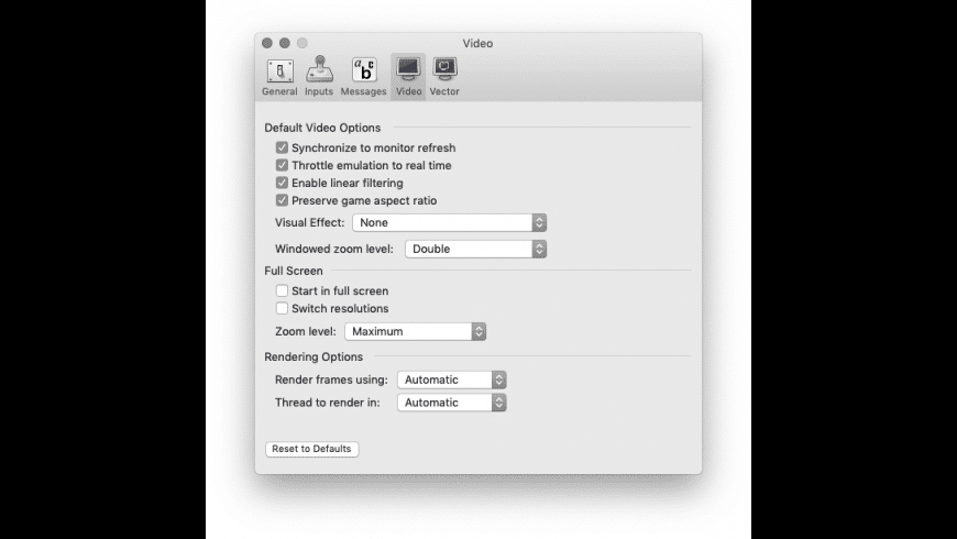 MAME OS X for Mac - review, screenshots