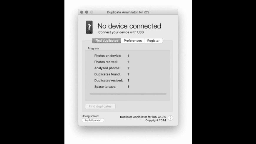 Duplicate Annihilator for iOS for Mac - review, screenshots