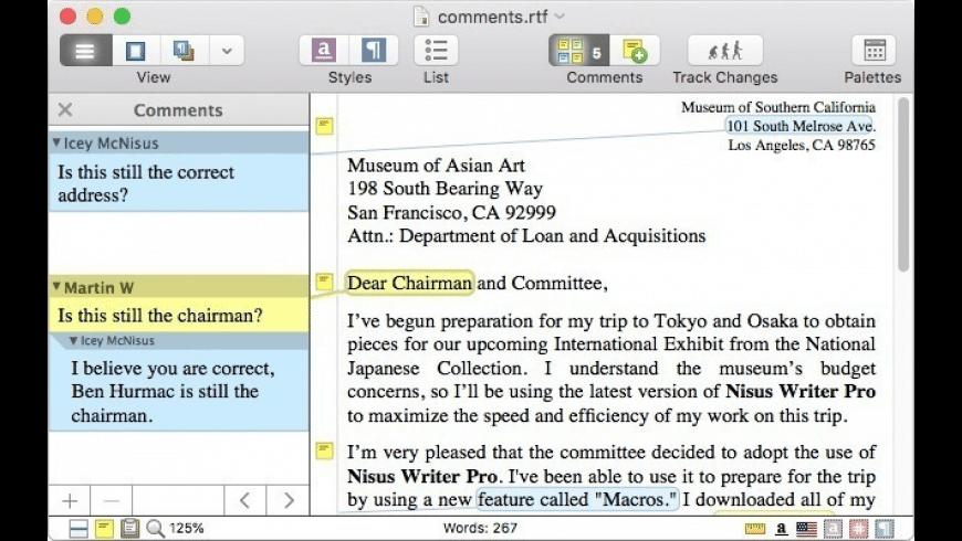 Nisus Writer Pro for Mac - review, screenshots