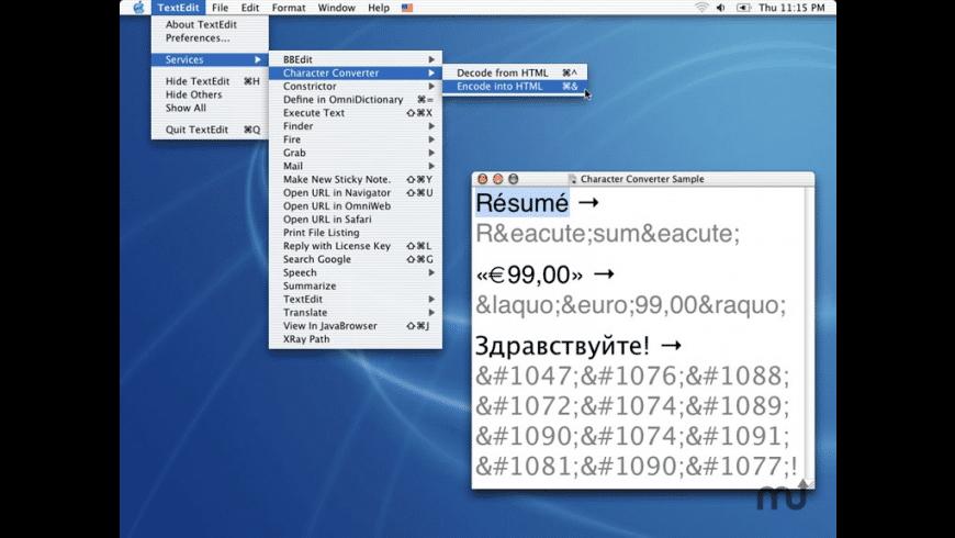 Character Converter for Mac - review, screenshots
