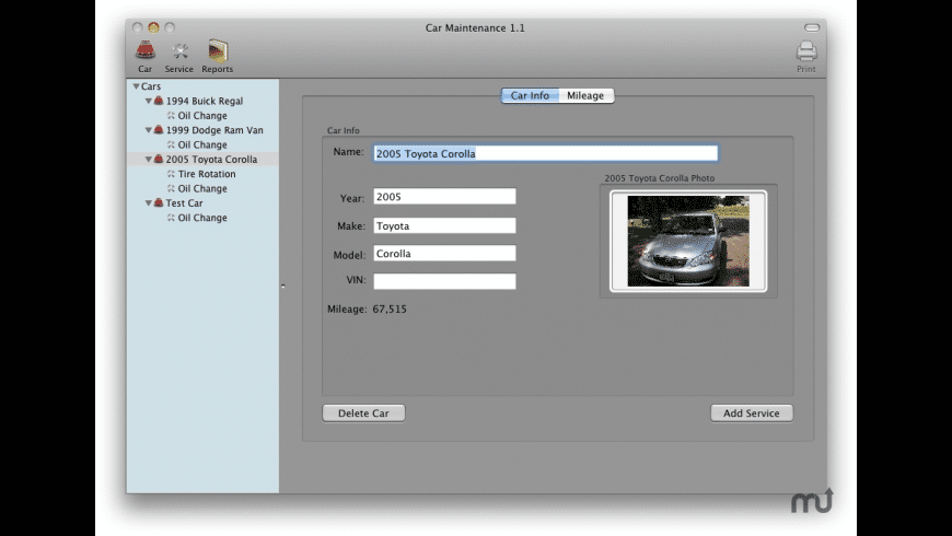 Car Maintenance for Mac - review, screenshots