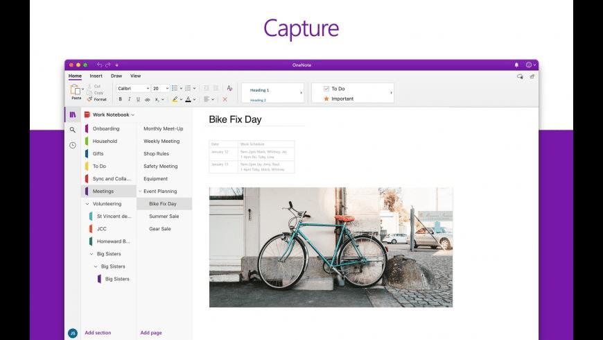 Microsoft OneNote for Mac - review, screenshots
