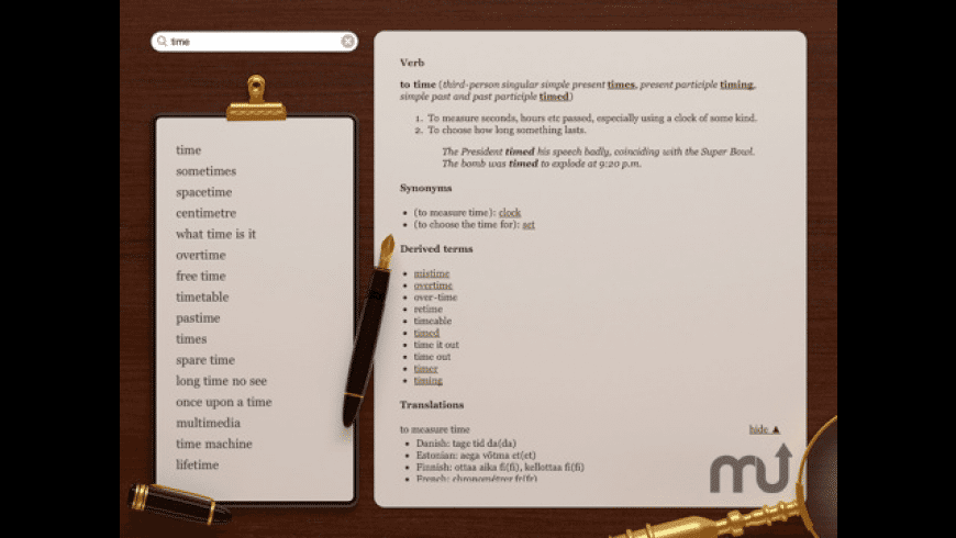 English BigDict for Mac - review, screenshots
