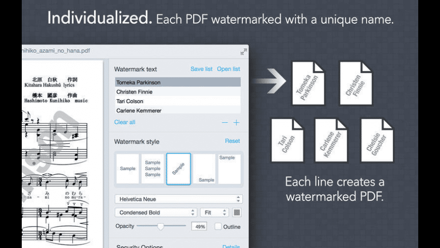 Bronson Watermarker PDF for Mac - review, screenshots